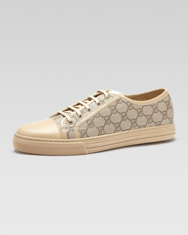 Sneakerbeigeebonycream California Pu Fabric Gg Lowtop trQhsd