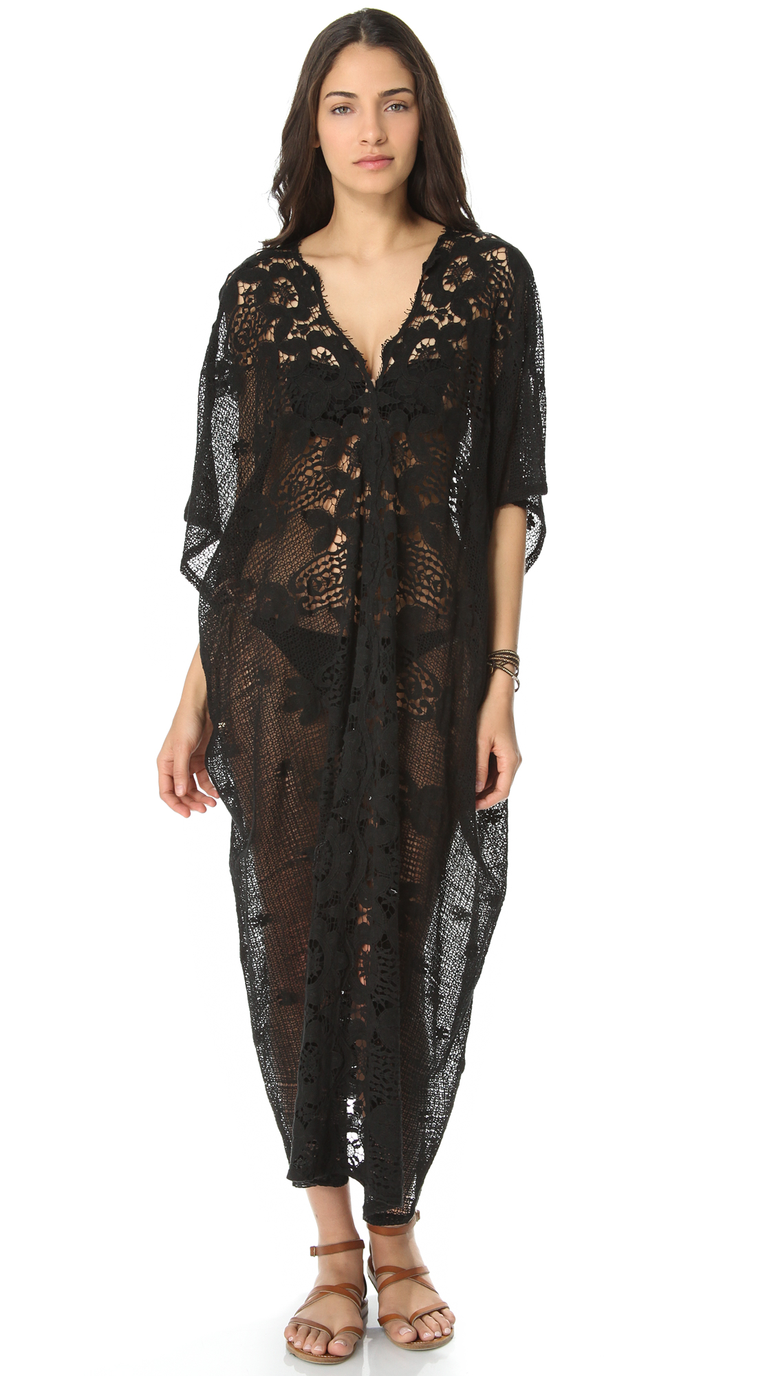 Miguelina Rachel Cover Up Dress In Black Lyst