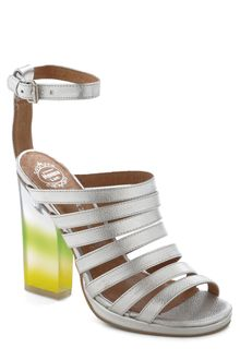 ModCloth Rainbow Where You Please Heel in Silver - Lyst