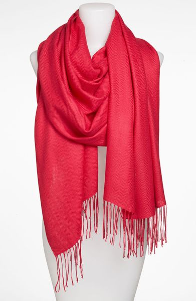 nordstrom collection herringbone scarf in