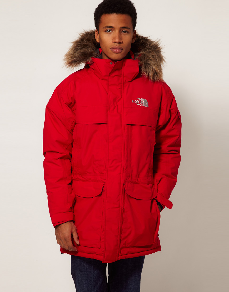the north face mcmurdo parka in red for men lyst. Black Bedroom Furniture Sets. Home Design Ideas