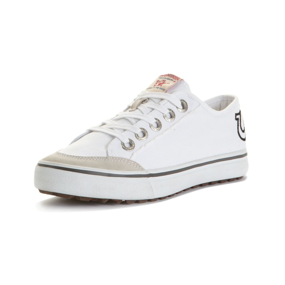 0ee4a3560 True Religion Eddie Low Canvas Sneakers in White for Men - Lyst