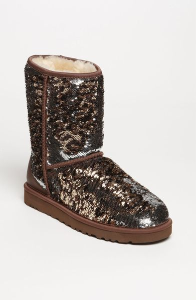 Ugg Classic Short Sparkle Boot In Brown Leopard Lyst
