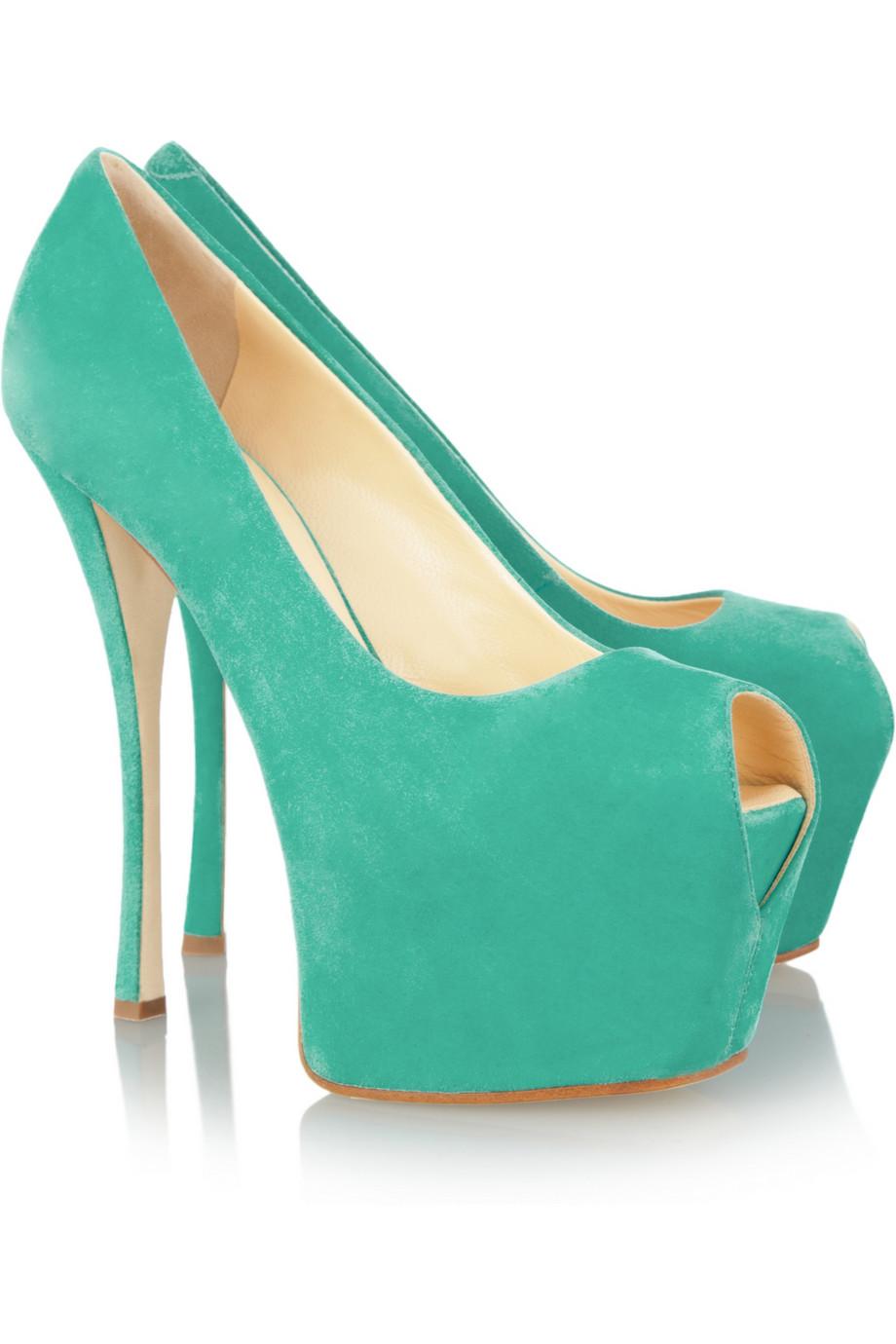 Canada Giuseppe Zanotti Platforms - Shoes Giuseppe Zanotti Suede Platform Pumps