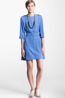 Marni Edition Belted Crepe Dress - Lyst