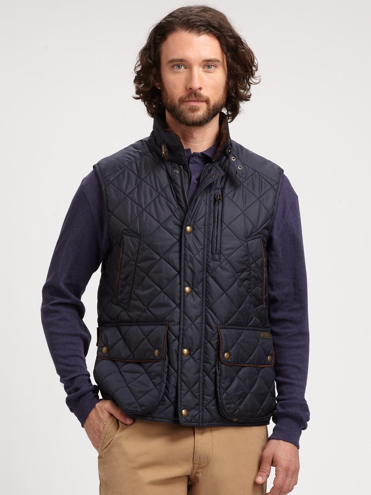 marein ralph lauren men 39 s black quilted vest. Black Bedroom Furniture Sets. Home Design Ideas