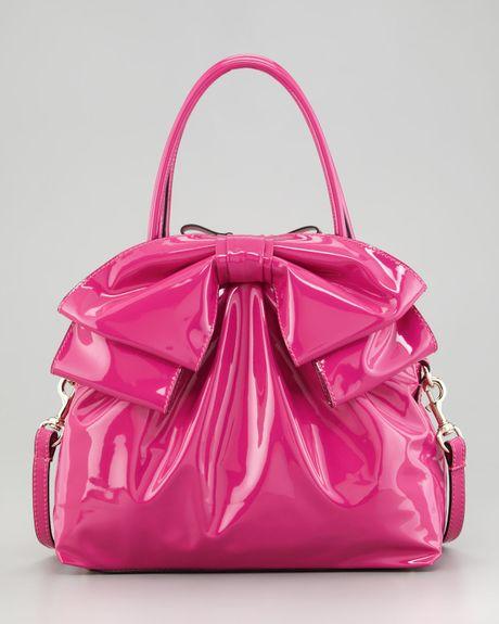 Valentino Lacca Dome Bow Bag in Pink (fuchsia) | Lyst