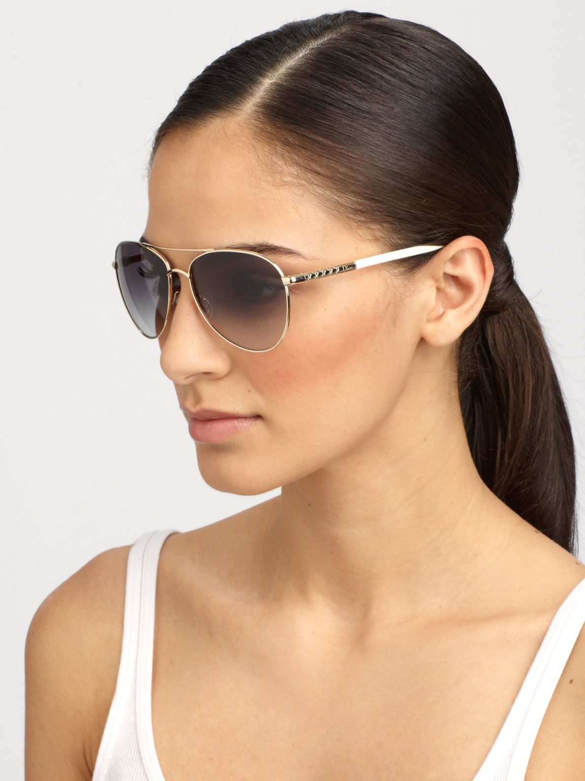 Dior Aviator Sunglasses  dior picadilly 2 metal aviator sunglasses in metallic lyst
