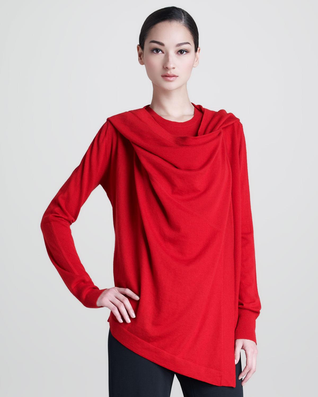 donna karan cashmere sleeveless top in red lyst. Black Bedroom Furniture Sets. Home Design Ideas