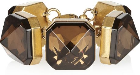 Gucci Gold-Plated Crystal Bracelet in Gold