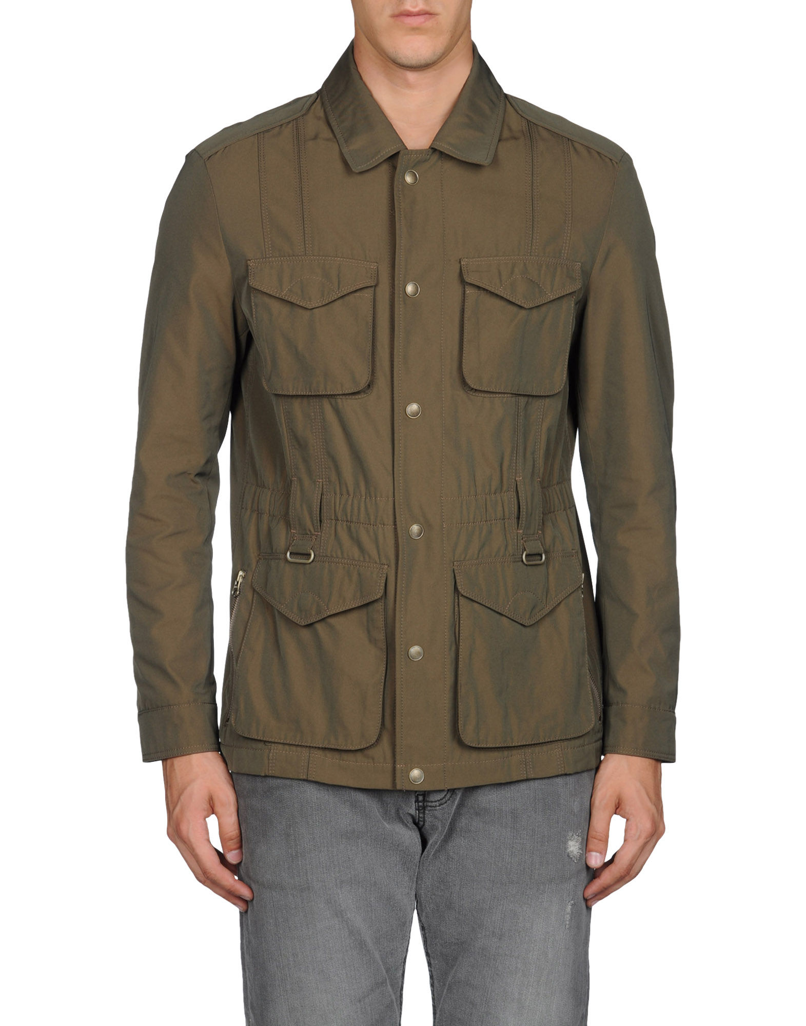 hugo boss jacket in khaki for men vert lyst. Black Bedroom Furniture Sets. Home Design Ideas