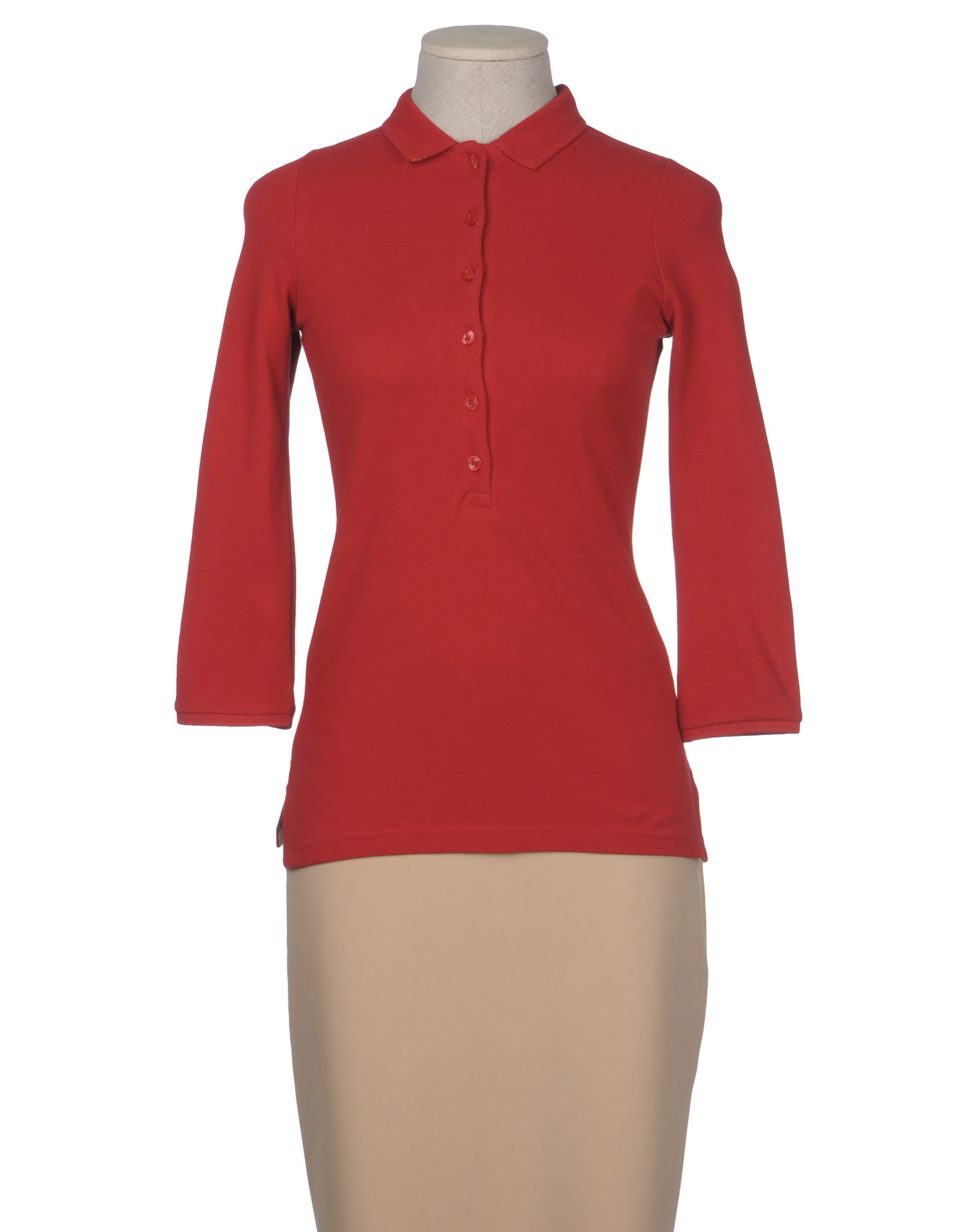 Burberry Brit Polo Shirt In Red Lyst