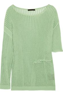 Alexander Wang Open Knit Cotton Sweater - Lyst