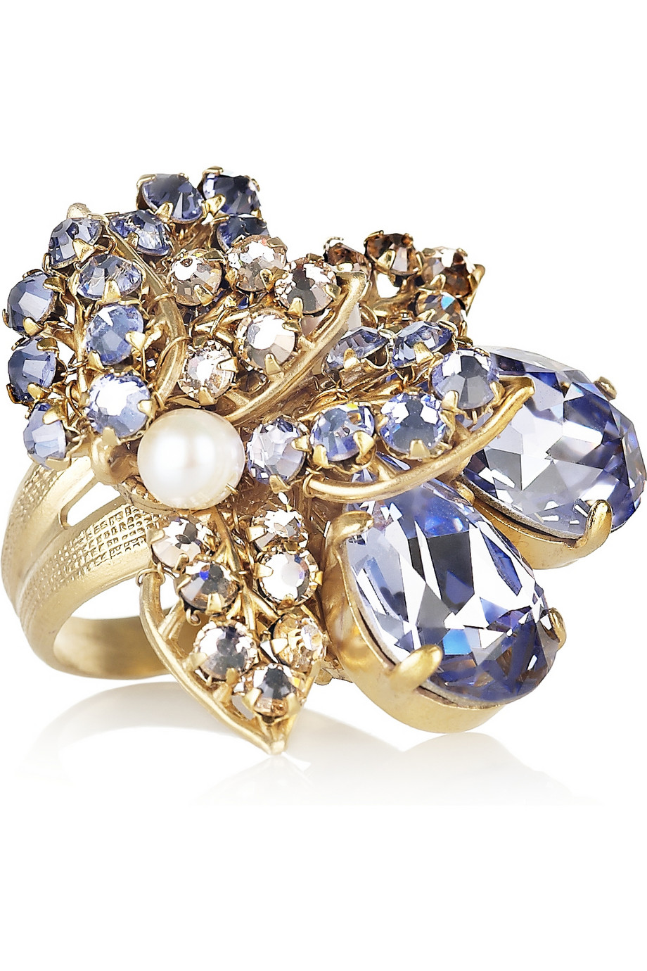 Bijoux Heart Fifi Goldplated Swarovski Crystal And Pearl