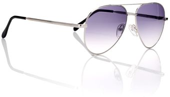 Cutler & Gross Silver Wire Aviators - Lyst