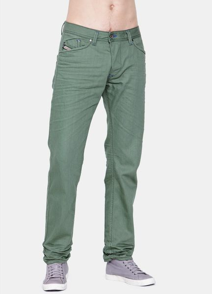 Diesel Slim Fit Jeans in Green for Men