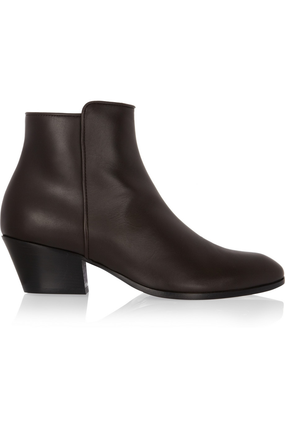 Lyst Giuseppe Zanotti Daddy Leather Ankle Boots In Brown
