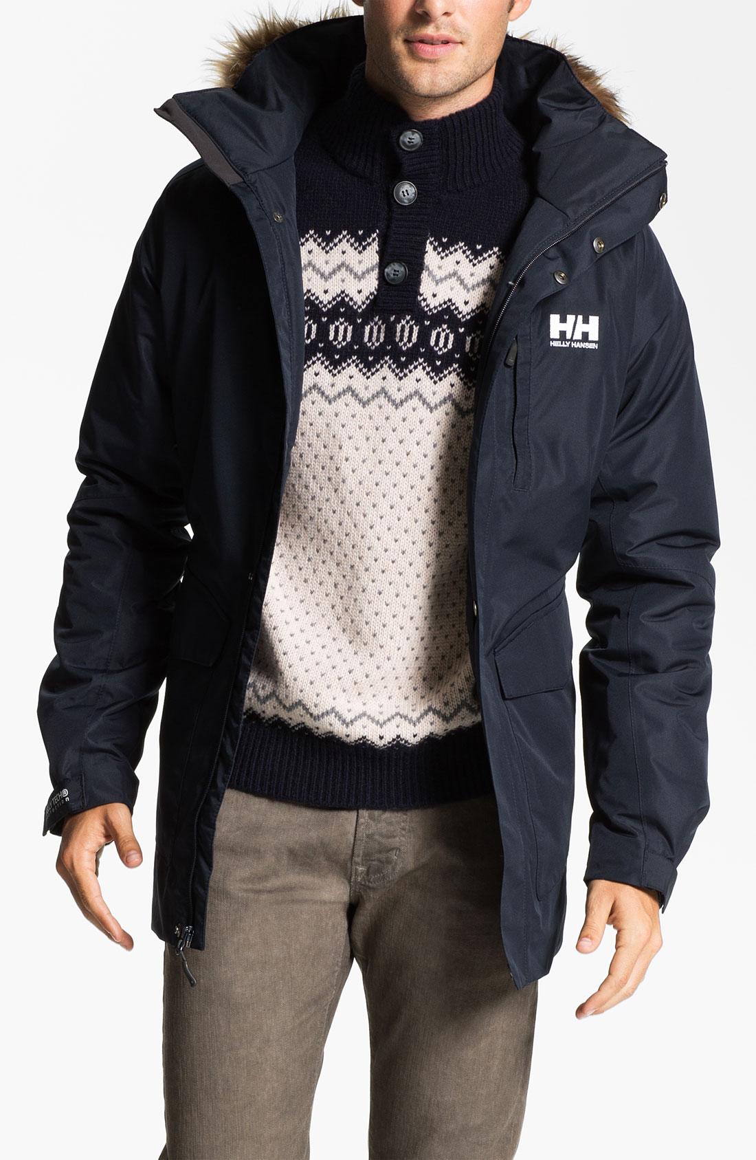 Helly hansen men's dubliner down jacket navy blue