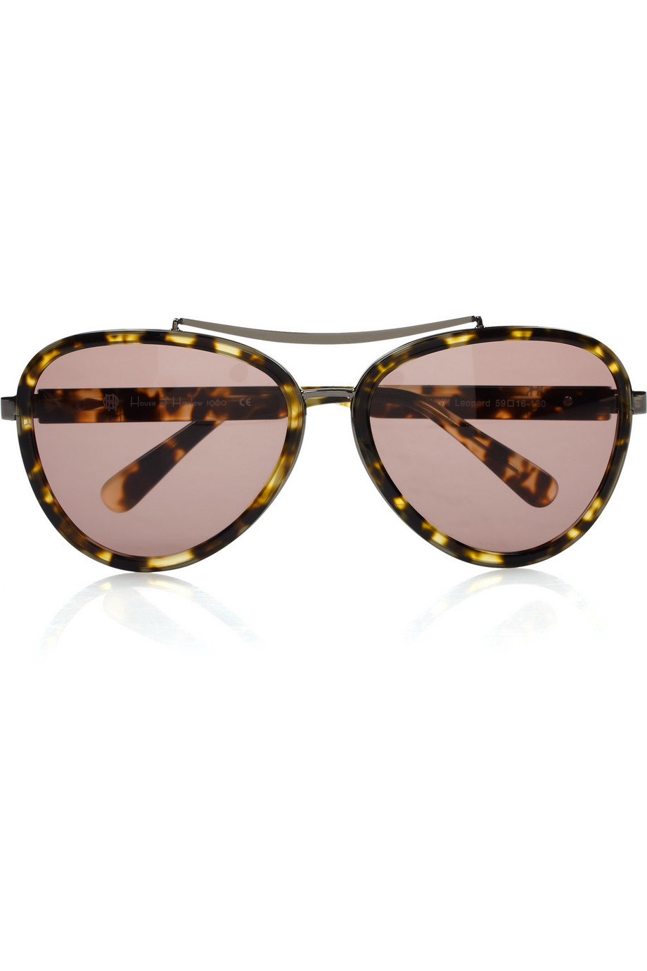 d1af3dc912574 House of Harlow 1960 Lynn Animalprint Acetate Aviator Sunglasses in ...