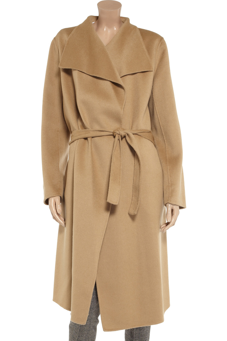 Joseph Lisa Belted Wool and Cashmereblend Coat in Natural | Lyst