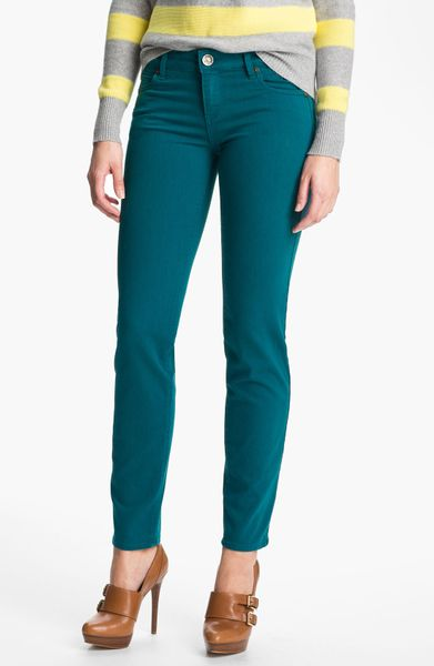 Kut From The Kloth Diana Colored Skinny Jeans in Blue (soho teal) - Lyst