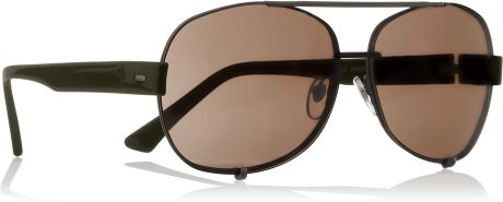 Marni Metal and Acetate Ovalframe Sunglasses in Brown