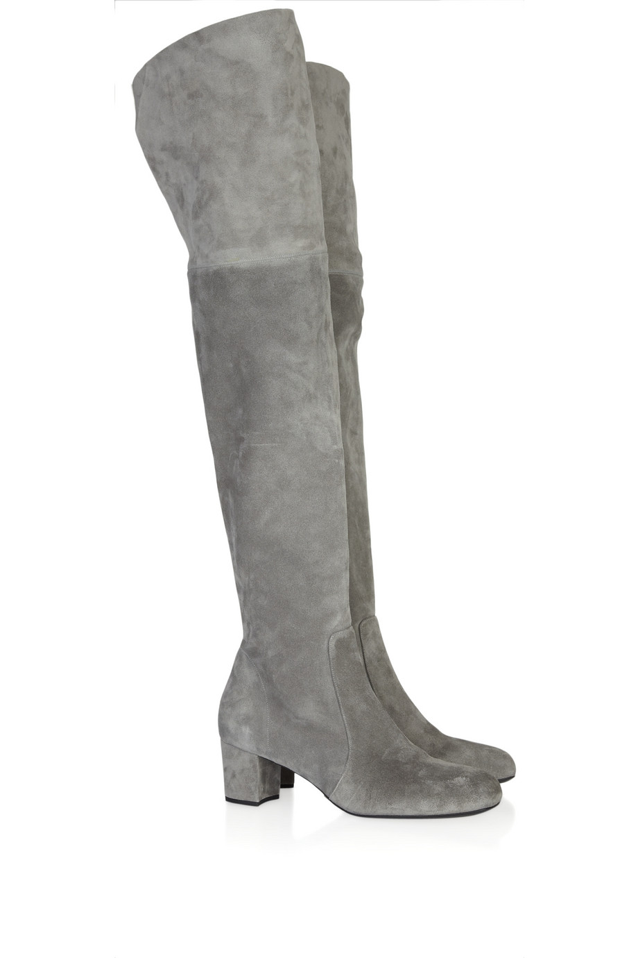 Michael Kors Suede Over The Knee Boots In Gray Lyst