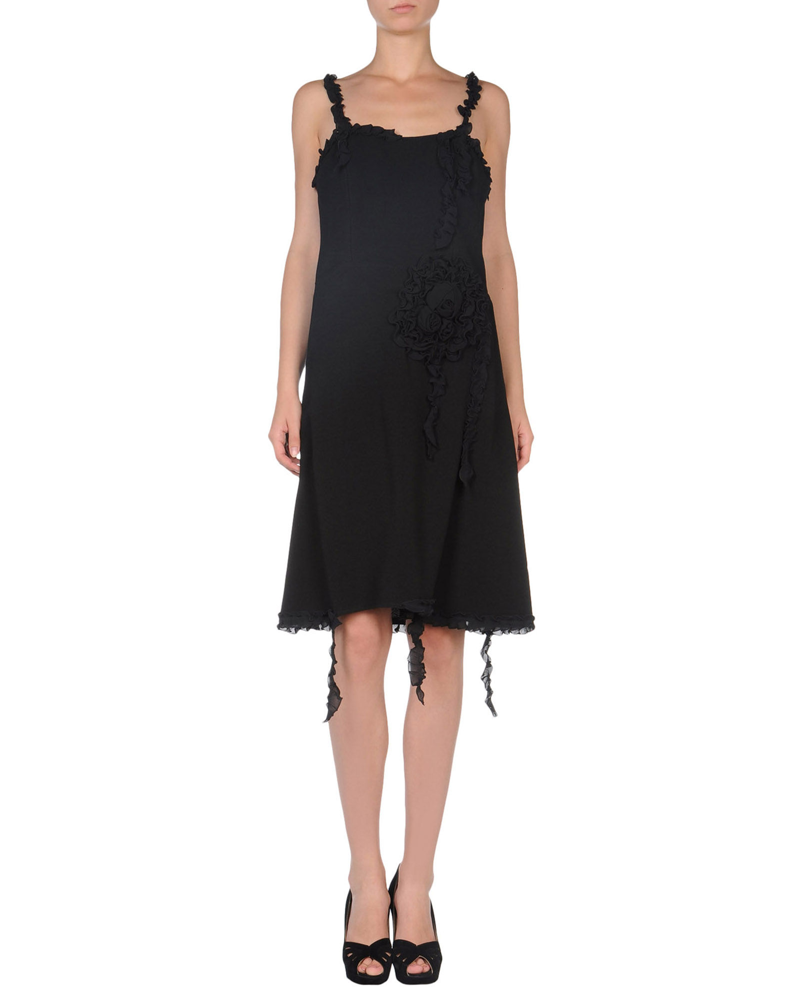 Boutique moschino Sleeveless Basic Neckline Black Short ...
