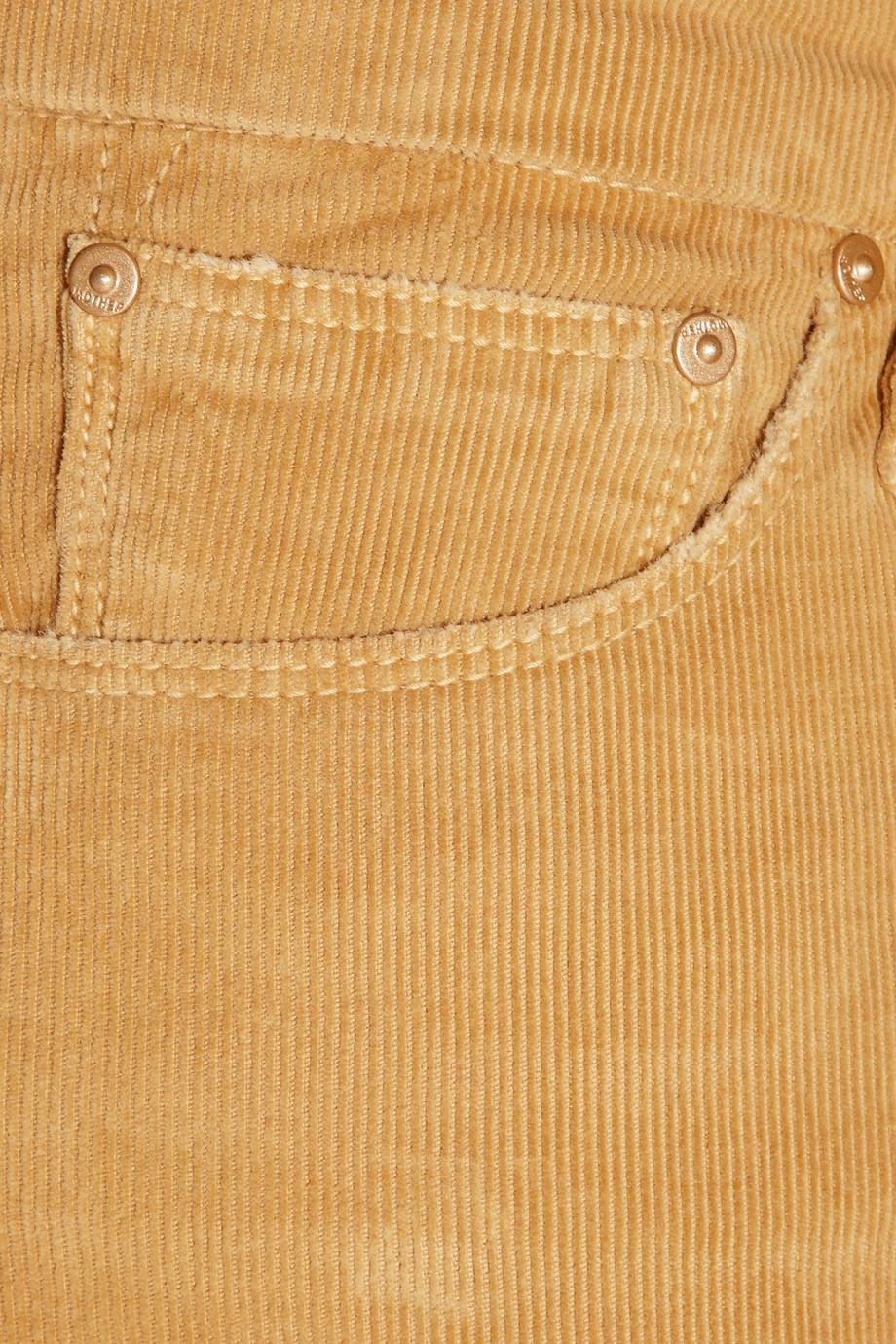 Mother The Looker Lowrise Corduroy Skinny Jeans in Saffron (Orange)
