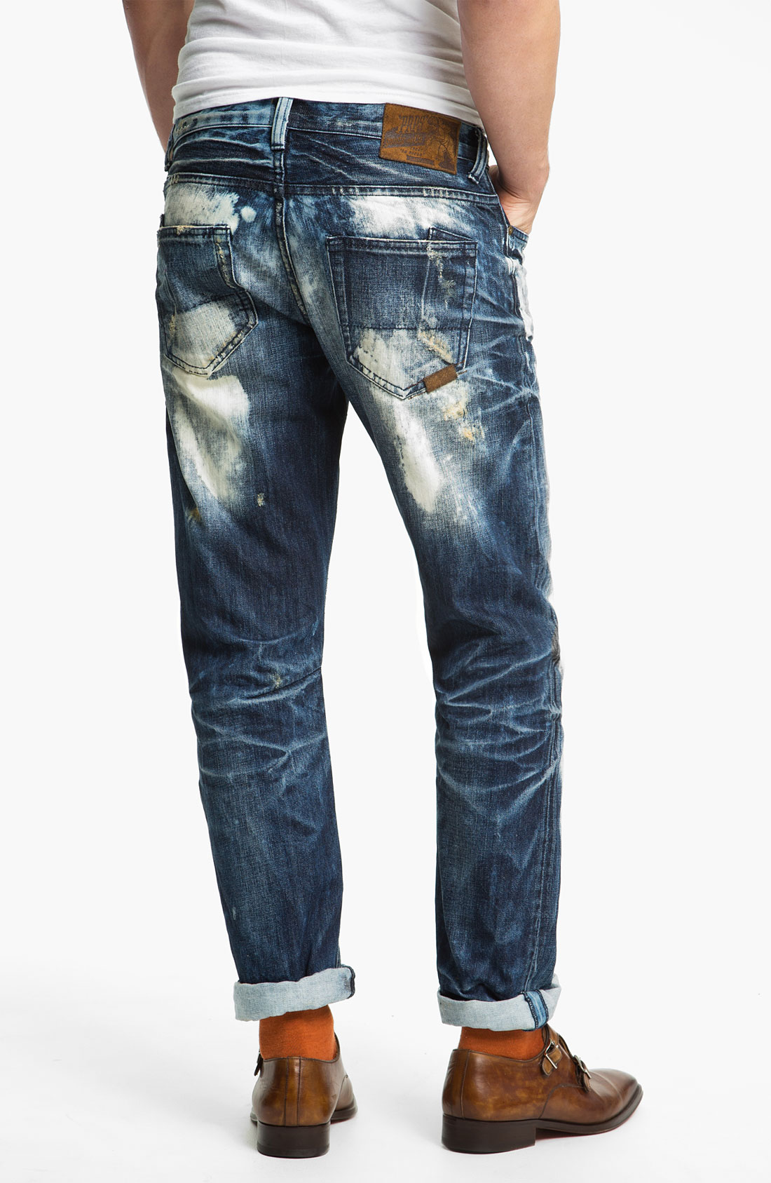 Prps Selvedge Faded Jeans in Blue for Men (Light blue) | Lyst