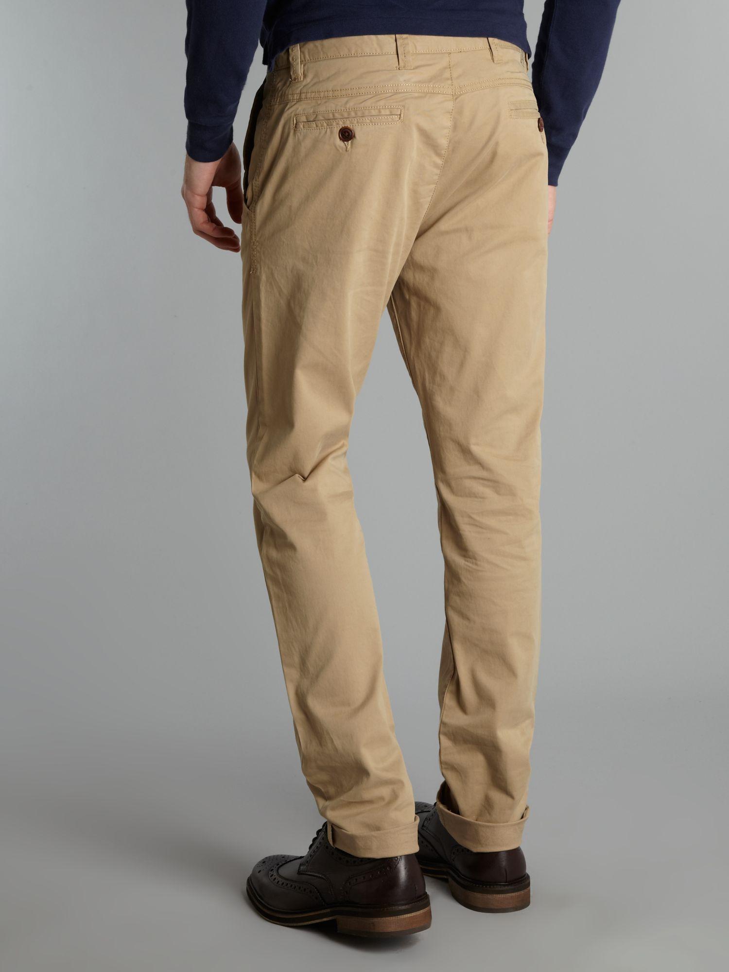 Coton Sergé Hommes Chinos Pantalon Adapté Tommy Hilfiger qfYqNHANy1