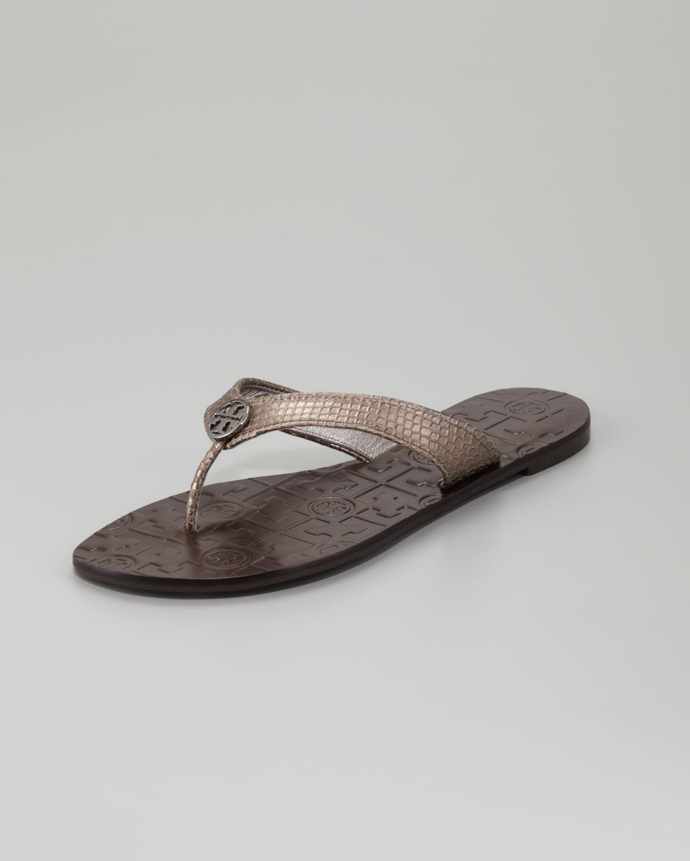 Tory Burch Metallic Thong Sandals fake online wide range of popular for sale g2jYlSSyUU