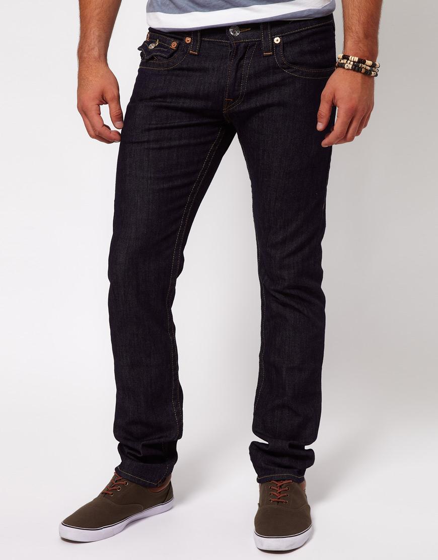 true religion jeans zach slim fit in blue for men lyst. Black Bedroom Furniture Sets. Home Design Ideas