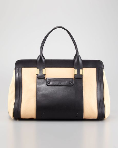 Chloé Alice Large Satchel Bag   in Beige (stem ginger) - Lyst
