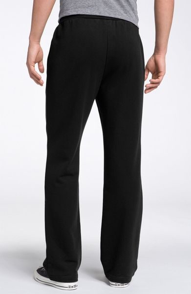 Lacoste Fleece Track Pants In Black For Men Lyst
