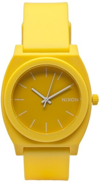 Nixon Time Teller Watch in Yellow for Men