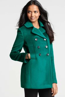 Ann Taylor Petite Pauline Double Breasted Pea Coat - Lyst