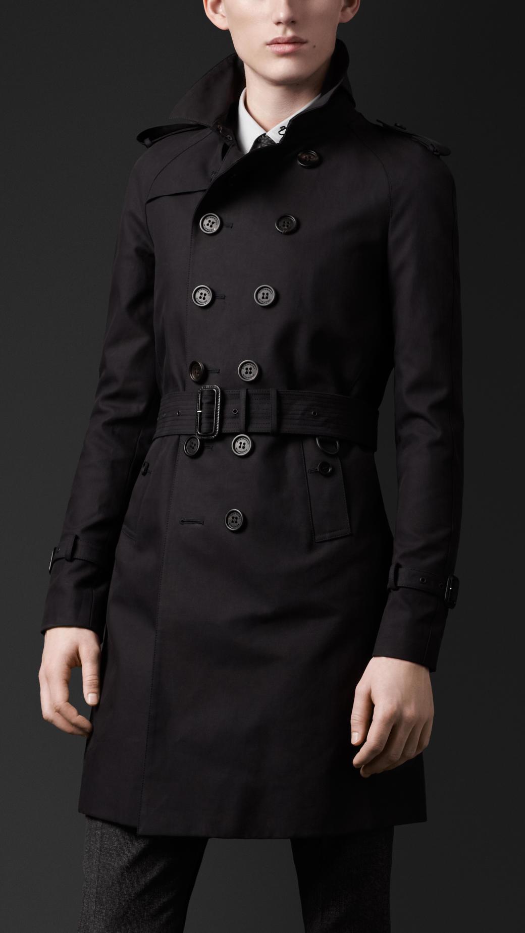 6e05925b74cb Burberry Black Mens Trench Coat