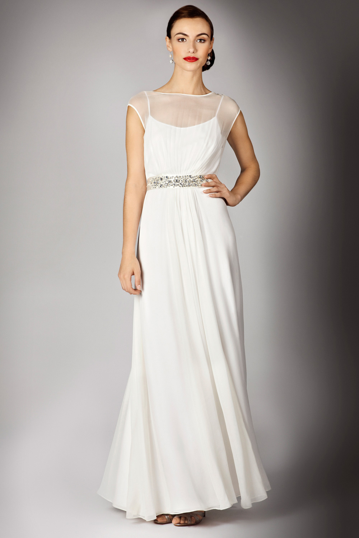 Coast Helena Maxi Dress In White Naturals Lyst