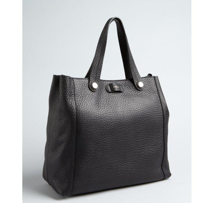 Furla Black Pebbled Leather 'Taormina' Shoulder Bag 61