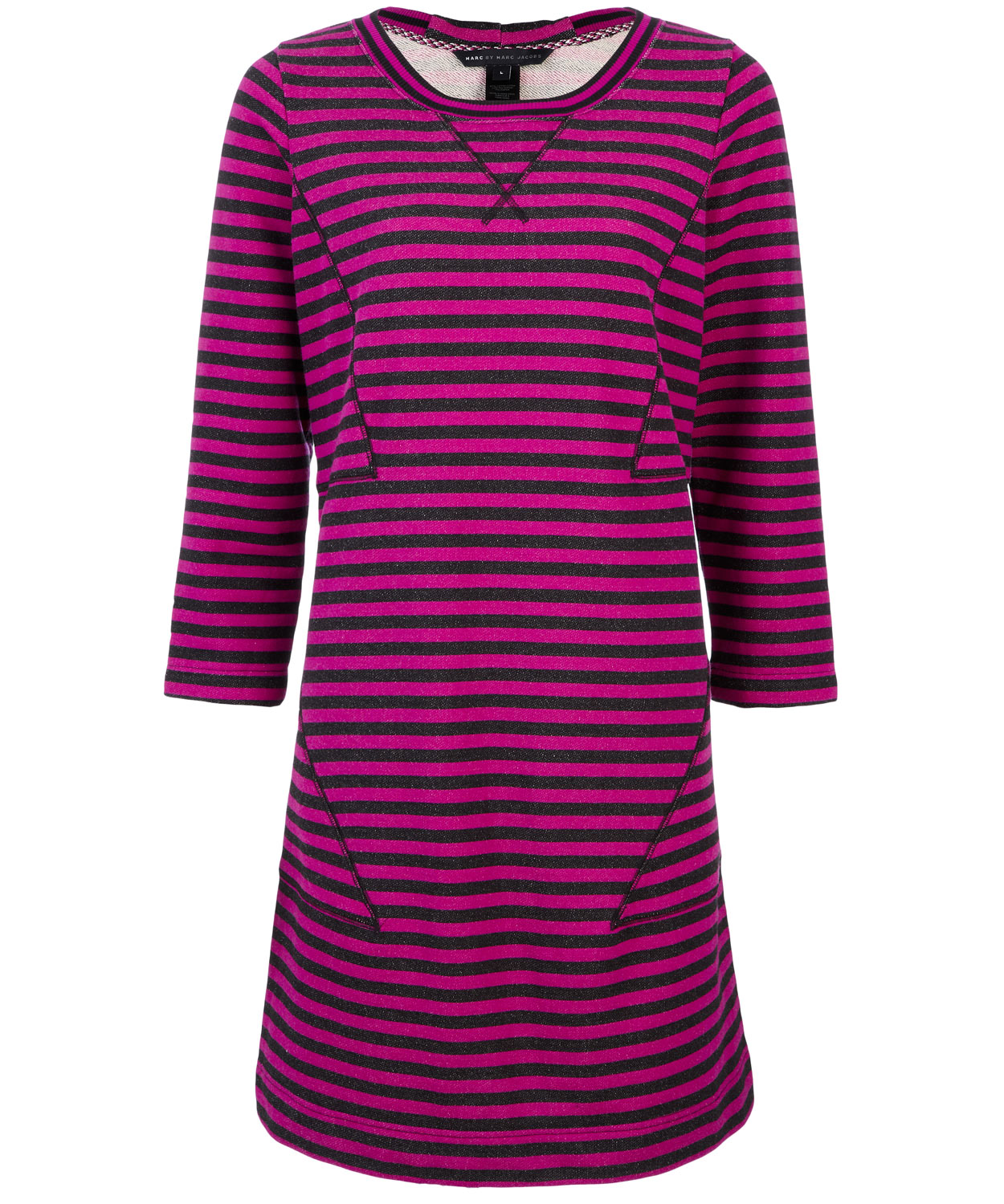 Marc by marc jacobs Pink and Black Ben Stripe Dress in Purple | Lyst