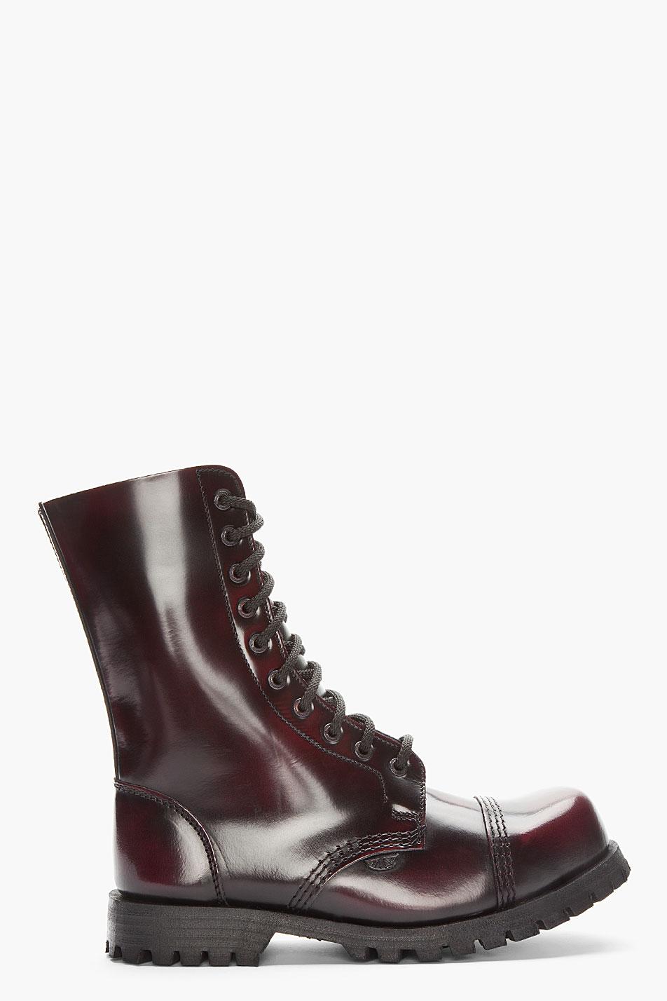 Lyst Underground Burgundy Wulfrun 10eye Steel Toe Boot