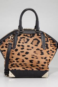 Alexander Wang Emile Leopardprint Calf Hair Satchel Bag - Lyst