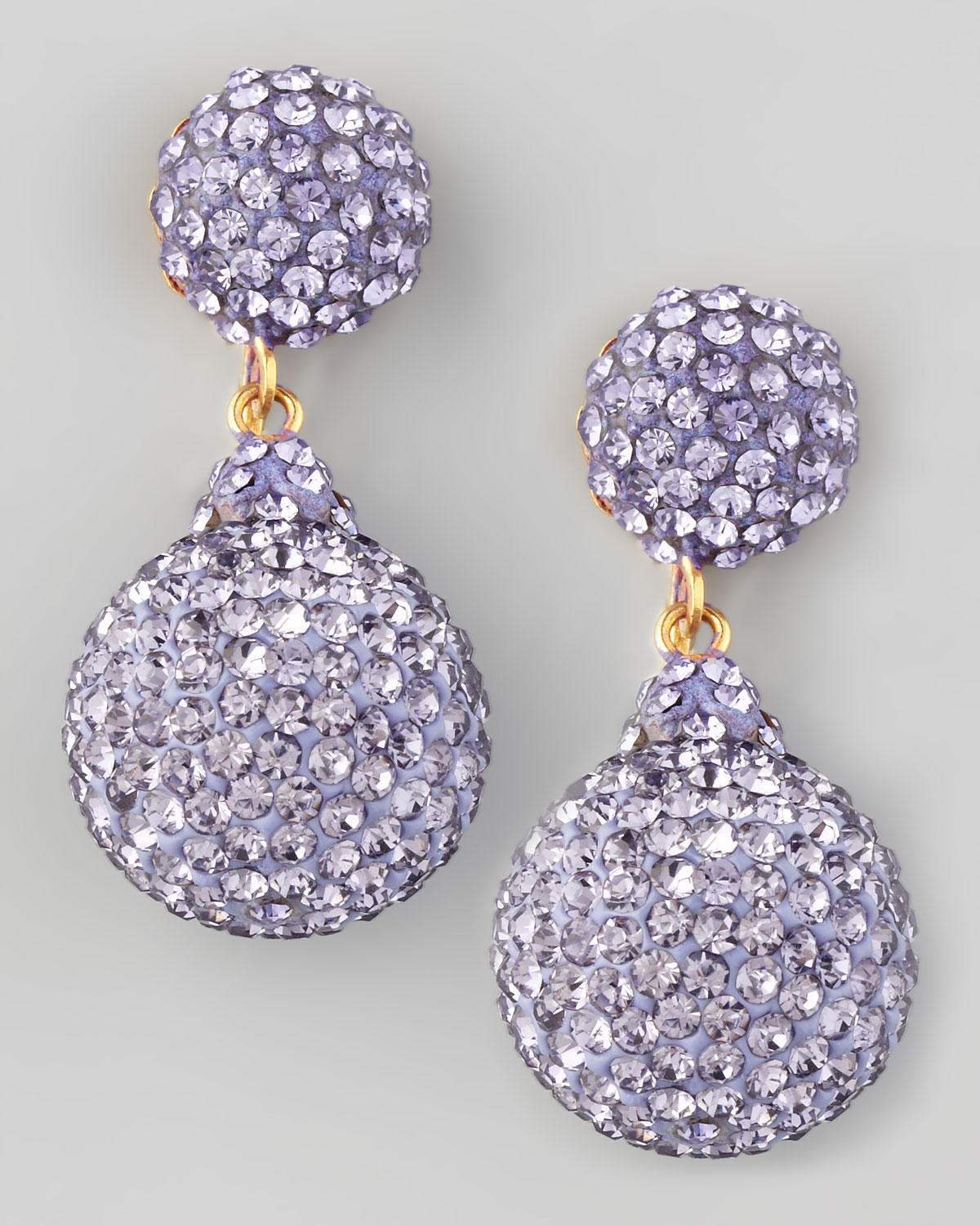 Jose Amp Maria Barrera Pave Crystal Doubledrop Earrings