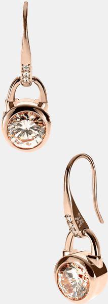 Michael By Michael Kors Brilliance Drop Earrings in Gold (rosegold/ silk) - Lyst