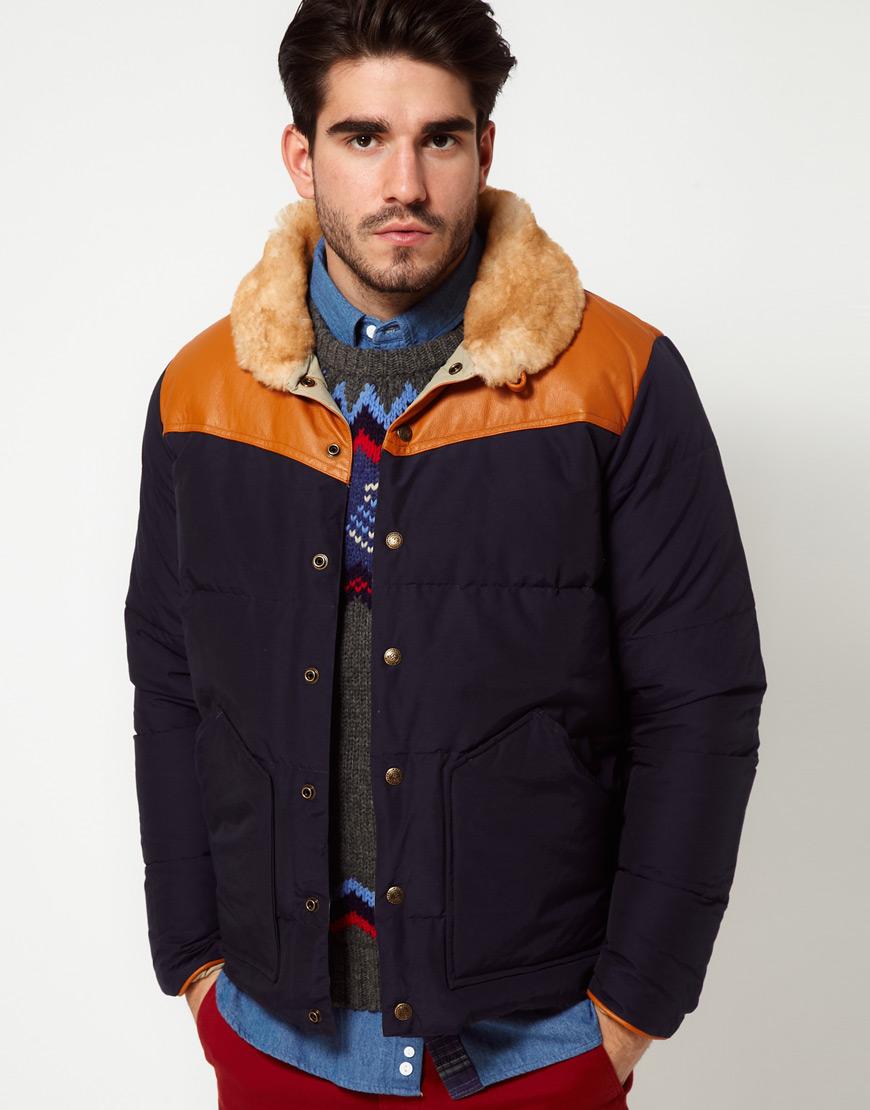Penfield Rockwool Down Fill Jacket In Blue For Men Lyst