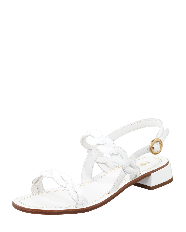 White leather sandals Prada 40q4NsXhNU