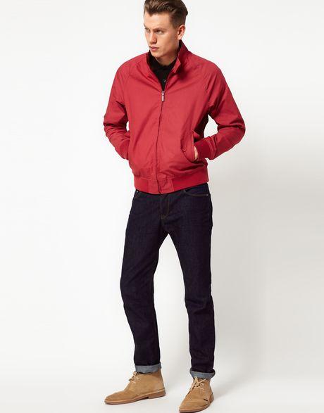 Ben Sherman Harrington Jacket In For Men Atlanticcoralred