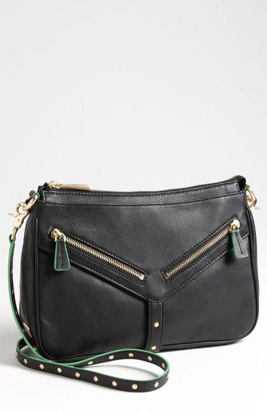 Botkier Scout Crossbody Bag in Black (black/ green