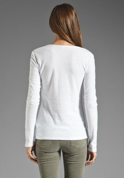 James Perse Farm Hand Henley Top In White Lyst